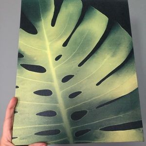 Leaf canvas, not an original painting. Used. Good